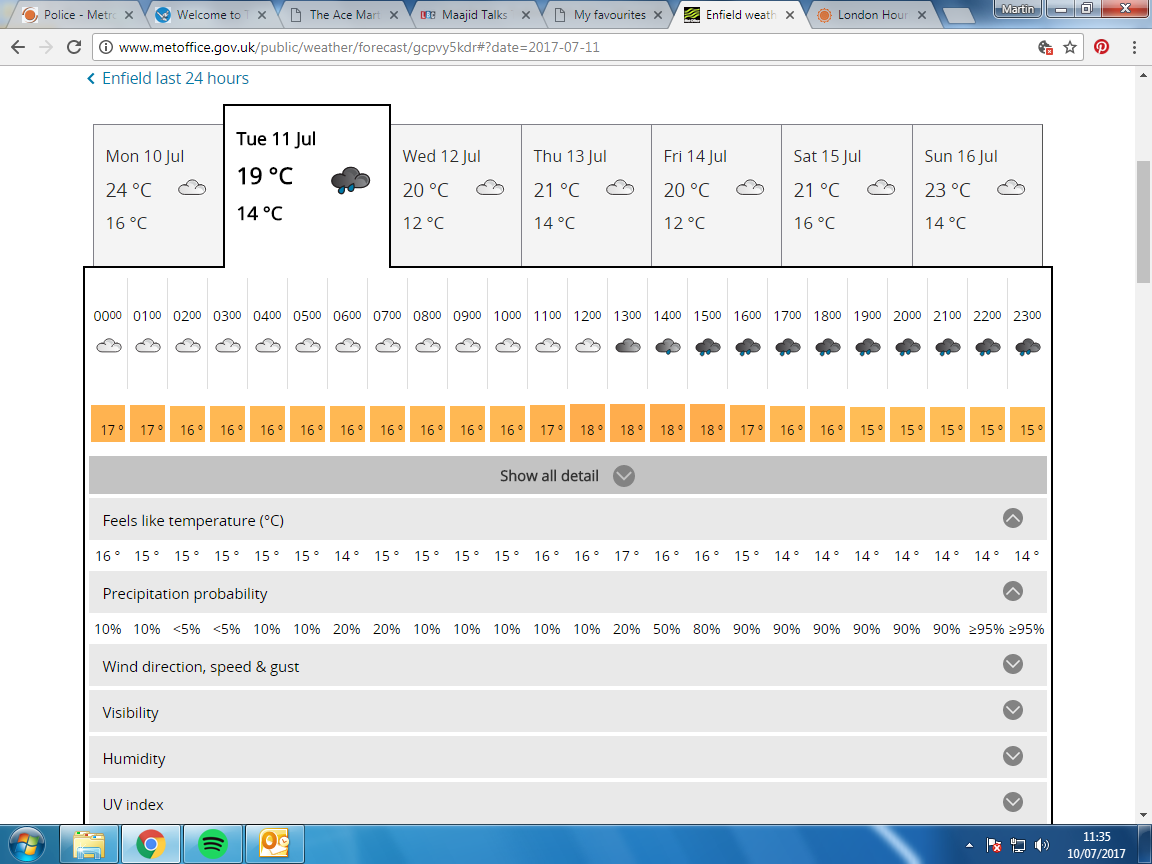 Best website for weather forecast? - Off-topic - londonbikers com